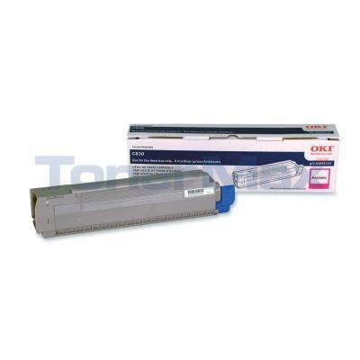 OKIDATA C830 TONER CARTRIDGE MAGENTA